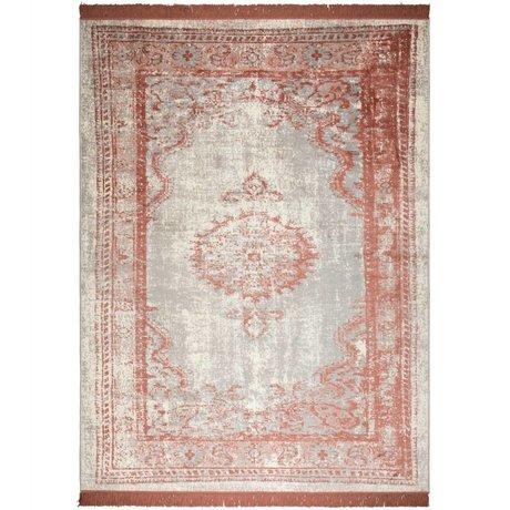 Zuiver Tapis Marvel Blush rouge textile 200x300cm