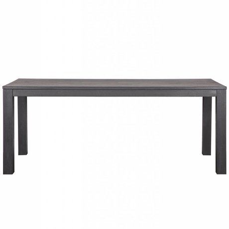 LEF collections Esstisch Largo Blacknight Eiche schwarz 230x90x78cm