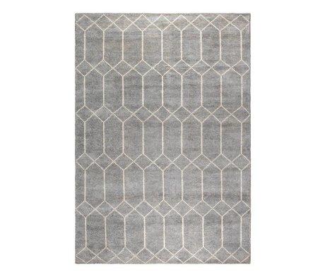 Zuiver Vloerkleed Venus grijs wit textiel 170x240cm