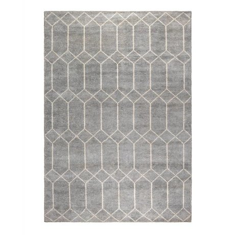 Zuiver Carpet Venus gray white textile 170x240cm