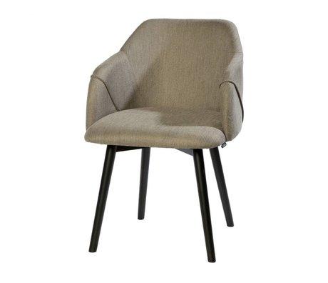 Riverdale Chaise de salle à manger Carlton gris bois textile 86x58x60cm