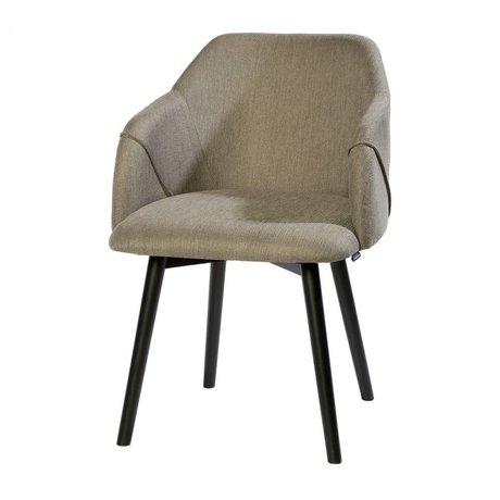 Riverdale Eetkamerstoel Carlton grijs textiel hout 86x58x60cm