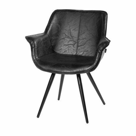 Riverdale Chaise de salle à manger Blake noir 83x70x60 cm