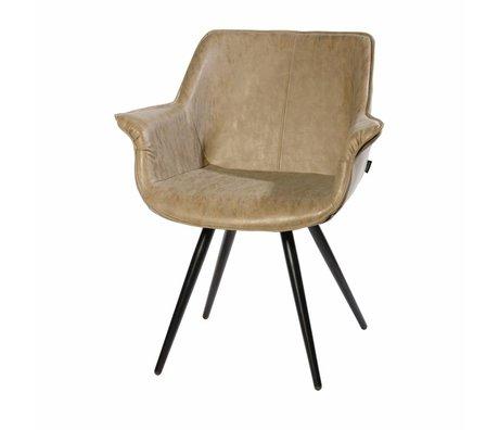 Riverdale Chaise de salle à manger Blake taupe marron 83x70x60 cm