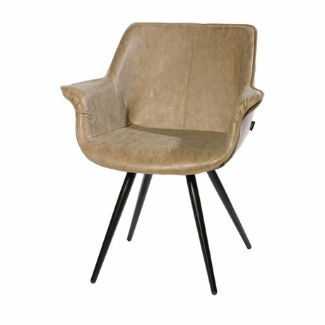 Riverdale Dining chair Blake taupe brown 83x70x60 cm
