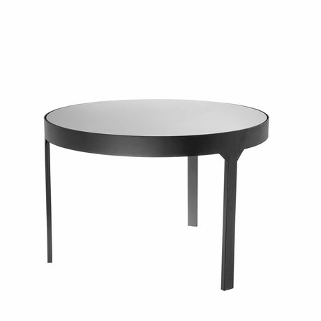 Riverdale Table d'appoint Amaro noir 60x60x40,4cm