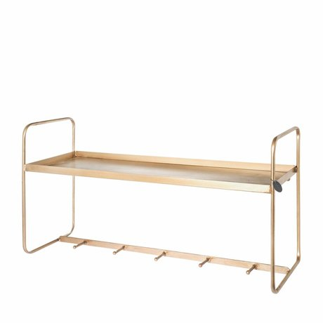 Riverdale Coat rack Amaro gold 41x80x25cm