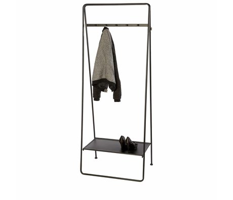Riverdale Coat rack Amaro black 179x70x45cm