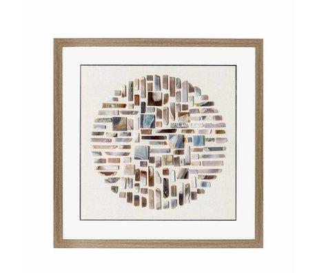 Riverdale Schilderij stones bruin 70x70x6cm