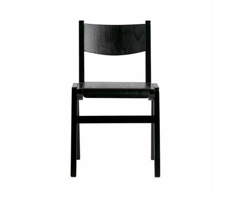BePureHome Schoolstoel Academy zwart hout 79x46,5x55cm