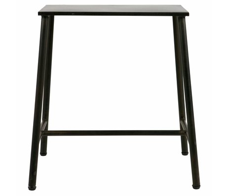 BePureHome Stool Blast black metal 48x41x25.5cm