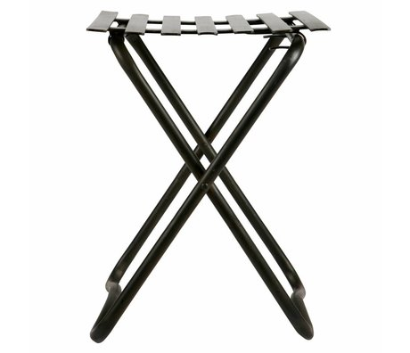 BePureHome Stool Brave black metal 50x36,5x37cm