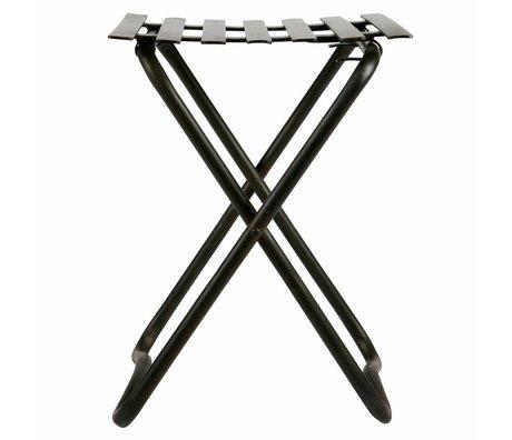 BePureHome Tabouret Brave métal noir 50x36,5x37cm