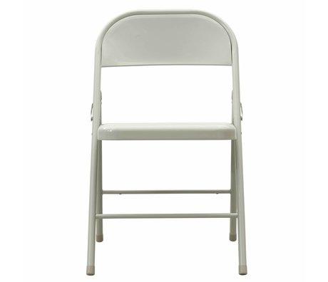 Housedoctor Folding chair Fold It metal light gray 46x46x79cm damage