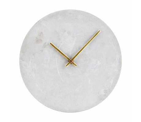 Housedoctor Clock Watch gray concrete Ø28cm damage
