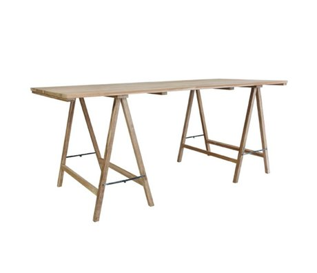 HK-living Schrafen table teak 180x80x76cm damage