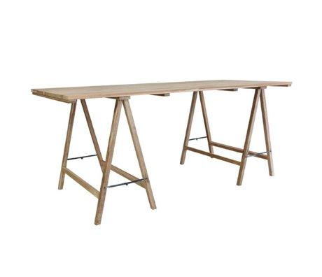 HK-living Schrafen Tisch Teak 180x80x76cm Schaden