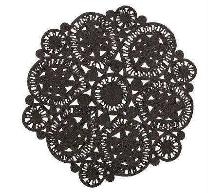 BePureHome Carpet Coaster black crochet 150cm