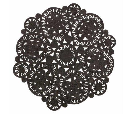 BePureHome Tapis coaster noir crochet 150cm