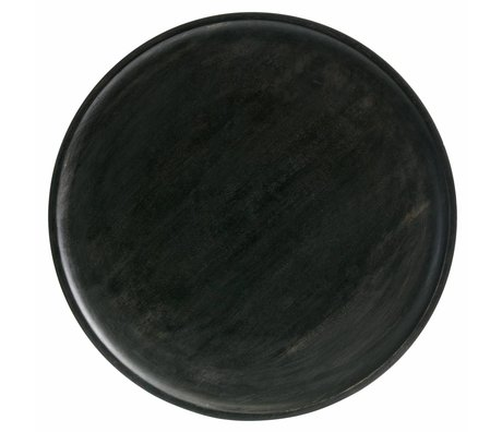BePureHome Tray Discus M dark brown wood 1,5x25x25cm