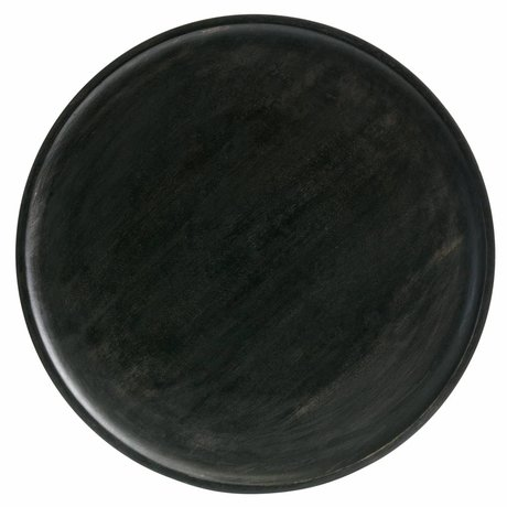 BePureHome Tablett Discus M dunkelbraunes Holz 1,5x25x25cm