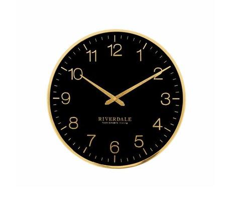 Riverdale Horloge murale Ritz en métal noir Ø40cm