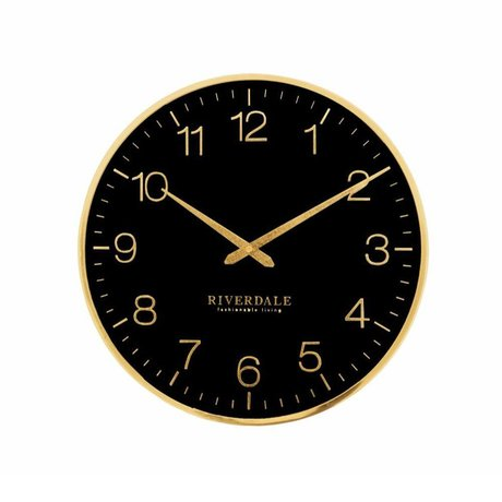 Riverdale Wall clock Ritz black metal Ø40cm