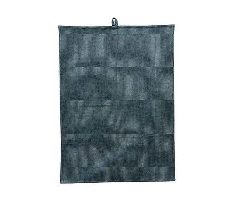 Housedoctor Tea towel Polly Waffle petrol blue cotton 70x50cm