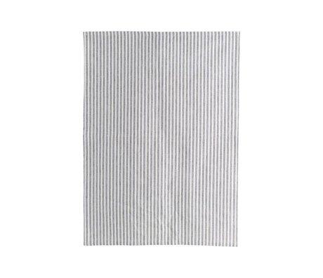 Housedoctor Tea towel Polly Stripe white gray cotton 70x50cm
