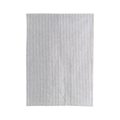 Housedoctor Theedoek Polly Stripe wit grijs katoen 70x50cm