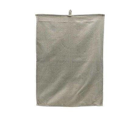 Housedoctor Tea towel Polly Waffle light gray cotton 70x50cm