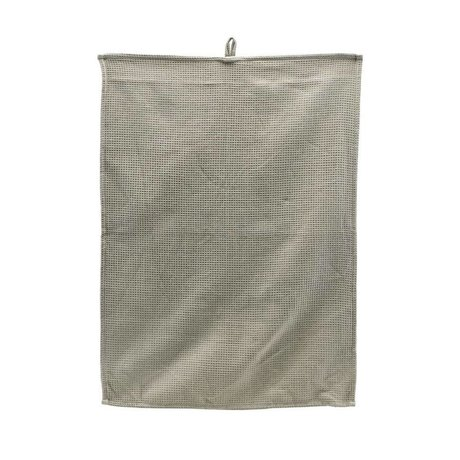 Housedoctor Torchon Polly Waffle coton gris clair 70x50cm