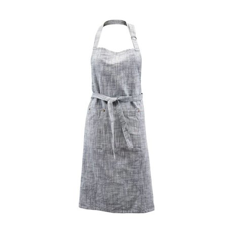 Housedoctor Cooking Apron Polly gray blue cotton 90x84cm