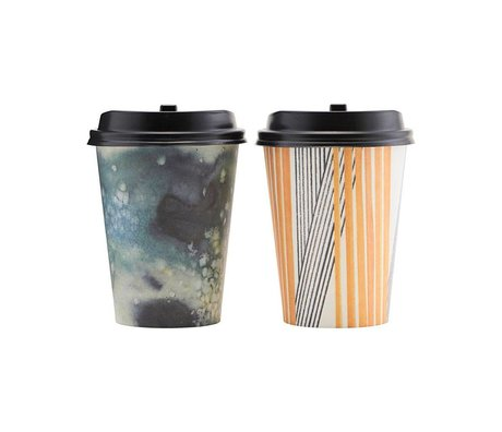 Housedoctor Paper cup set to go Mood multicolour paper 11cm