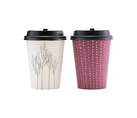 Housedoctor Paper cup set to go Taste multicolour paper 11 cm