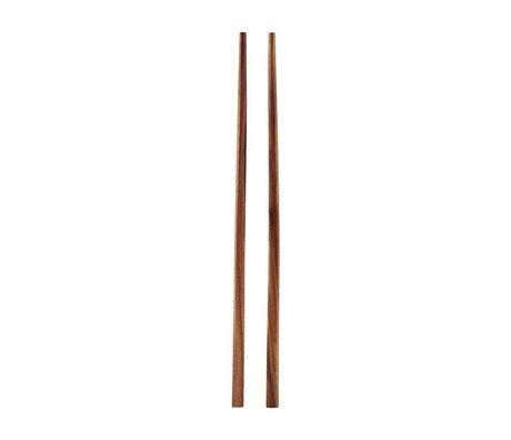 Housedoctor Eetstokjes Akacie bruin hout 22,5cm