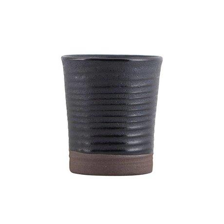 Housedoctor Espresso mok Colour 11 zwart keramiek Ø4x5,5cm