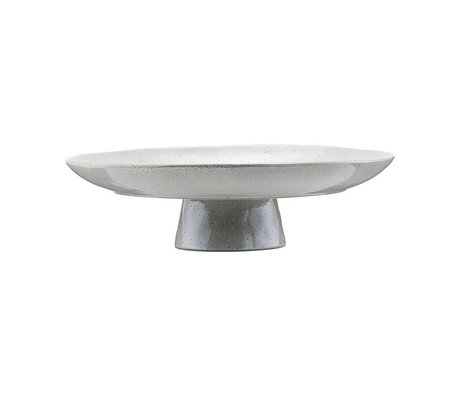 Housedoctor Cake plate gray blue clay Ø32x8,3cm