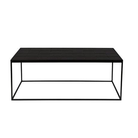 Zuiver Salontafel Glazed zwart keramiek metaal 93x42,5x36cm