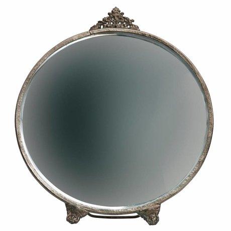 BePureHome Spiegel Posh round antiek brass goud metaal 26x22x1cm