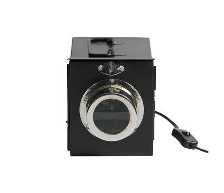 BePureHome Lampe de table projecteur en métal noir 16x14x19cm
