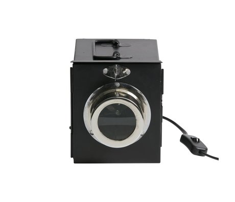 BePureHome Table lamp Projector black metal 16x14x19cm