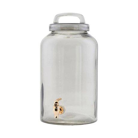 Housedoctor Limonadetap Ice Cold grijs transparant glas Ø20x30cm