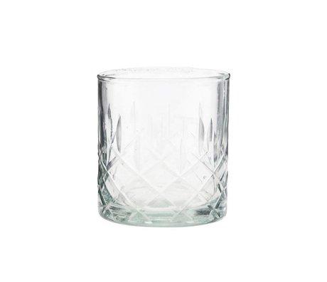 Housedoctor Whisky glas Vintage transparant glas Ø8x9cm
