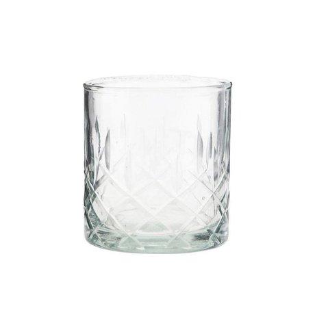 Housedoctor Whiskyglas Vintage transparentes Glas Ø8x9cm