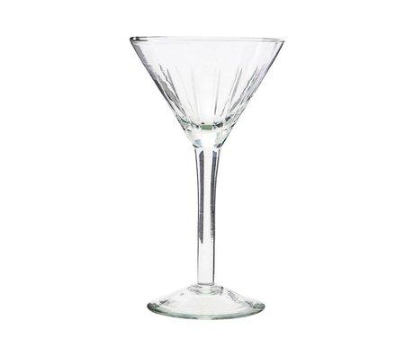 Housedoctor Cocktail glas Vintage transparant glas Ø11x19cm