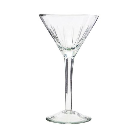 Housedoctor Cocktailglas Vintage transparentes Glas Ø11x19cm