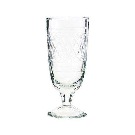 Housedoctor Bierglas Vintage transparant glas Ø6,5x15cm