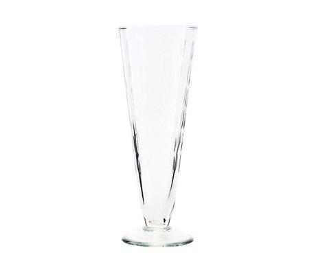 Housedoctor Champagne glass Vintage transparent glass Ø7x20cm