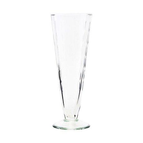 Housedoctor Sektglas Vintage transparentes Glas Ø7x20cm